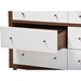 Harlow 6 Drawers Storage Dresser - Walnut Brown and White - WI-FP-6781-WALNUT-WHITE