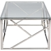 Fiona Rectangular Coffee Table - Glass Top, Stainless Steel - WI-GY-CT-2051214