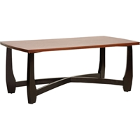 Straitwoode Rectangular Coffee Table - Cherry and Dark Brown