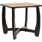 Straitwoode Square End Table - Cherry and Dark Brown