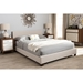 Elizabeth Upholstered Platform Bed - Panel-Stitched - WI-IDB048-BED