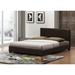 Pless Faux Leather Platform Bed - Dark Brown - WI-IDB048-BROWN-BED