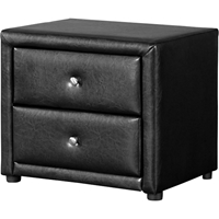 Winston 2 Drawers Nightstand - Black
