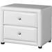 Winston 2 Drawers Nightstand - White - WI-JS-NS-010-WHITE