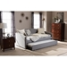 Lanny Nailheads Twin Daybed - Trundle Bed, Gray - WI-LANNY-GRAY-DAYBED