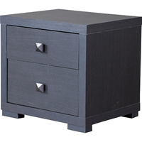 Marco 2 Drawers Nightstand - Dark Brown