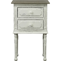 Anjou Accent Nightstand - 2 Drawers, White