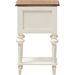 Marquetterie 2 Drawers Nightstand - White, Natural - WI-PRL8VM-AR-M-B