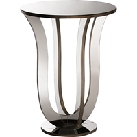 Kylie Accent Side Table - Silver Mirrored