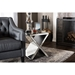 Morris Accent Side Table - Silver Mirrored - WI-RS1652