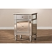 Claudia Nightstand - Silver Mirrored - WI-RS2403