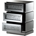 Sabrina 3 Drawers Nightstand - Silver Mirrored - WI-RS2572