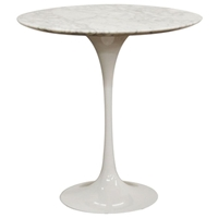 Immer White Mid-Century Style End Table