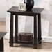 Havana Brown Wood Modern End Table - WI-RT157B-OCC