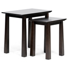 Havana Wood Modern Nesting Table Set