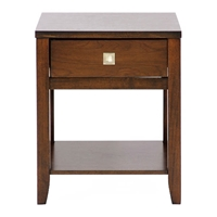New Jersey Brown Wood End Table