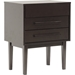 Abner 2 Drawers Nightstand - Dark Brown - WI-RT291-NSD