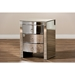 Florence 3 Drawers Nightstand - Silver Mirrored - WI-RXF-612