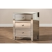 Rosalind 3 Drawers Nightstand - Silver Mirrored - WI-RXF-645