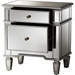 Sussie 2 Drawers Nightstand - Silver Mirrored - WI-RXF-680