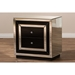 Cecilia 2 Drawers Nightstand - Black and Silver Mirrored - WI-RXF-721