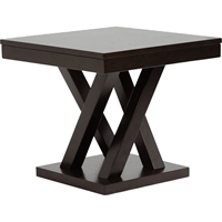 Everdon End Table - Dark Brown