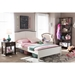 Harry Platform Bed - Butter Milk and Walnut - WI-SB344-BUTTER-MILK-WALNUT-BED