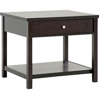 Nashua 1 Drawer Nightstand - Dark Brown