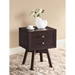 Warwick 2 Drawers Nightstand - Dark Brown - WI-ST-005-AT