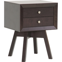 Warwick 2 Drawers Nightstand - Dark Brown