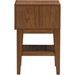 Gaston 1 Drawer Accent Table - Walnut, White - WI-ST-007-AT-WALNUT-WHITE
