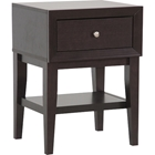 Gaston 1 Drawer Accent Table - Dark Brown