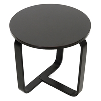 Avila Modern Round End Table - Wenge, Bentwood Legs