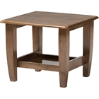 Pierce 1 Shelf End Table - Walnut Brown