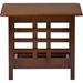 Larissa Square End Table - 1 Shelf, Cherry Brown - WI-SW5218-CHERRY-TS2-ET
