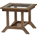 Cayla Living Room Glass Top End Table - Walnut Brown - WI-SW5236-WALNUT-M17-ET