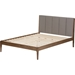 Ember Platform Bed - Cushioned Headboard - WI-SW8063-BED-WALNUT-M7
