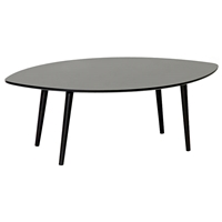 Griffith Wooden Coffee Table - Wenge, Leaf-Shaped Top