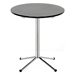 Grimes Round End Table - Wenge Wood Top, Silver Steel Base - WI-TB979-WENGE-AT
