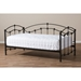 Dahlia Metal Daybed - Black - WI-TS-DAHLIA-BLACK-DAYBED