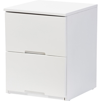 Washington 2 Drawers Nightstand - White