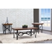 Archipelago Wood and Metal 3-Piece Table Set - Brown, Black - WI-WR-C115-CT-AT