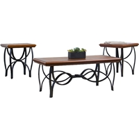 Archipelago Wood and Metal 3-Piece Table Set - Brown, Black