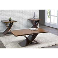 Helix 3-Piece Table Set - Brown