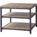 Caribou 2 Shelves End Table - Natural, Black - WI-YLX-0005-AT
