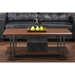 Newcastle 1 Shelf Coffee Table - Brown, Antique Bronze - WI-YLX-2646-CT
