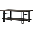 Newcastle 1 Shelf Coffee Table - Brown, Antique Bronze