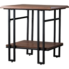 Newcastle 1 Shelf End Table - Brown, Antique Bronze