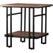 Newcastle 1 Shelf End Table - Brown, Antique Bronze - WI-YLX-2646-ET