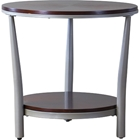 Halo Round End Table - Brown